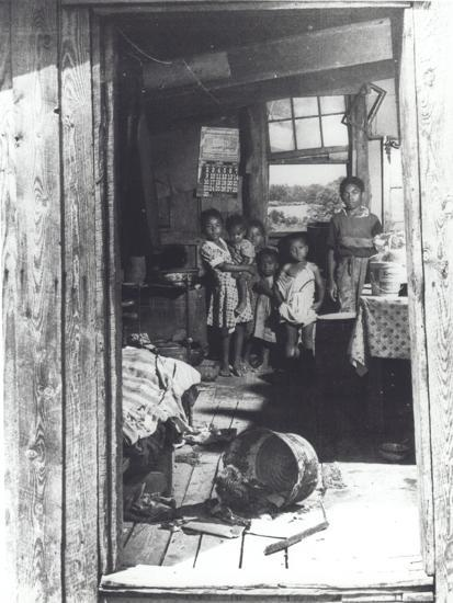 Overcrowded Shack in Caroline County, Virginia, 1941--Photographic Print