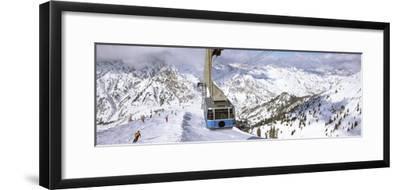 Overhead Cable Car in a Ski Resort, Snowbird Ski Resort, Utah, USA