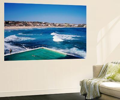 Overhead of Bondi Icebergs Pool and Bondi Beach-Holger Leue-Giant Art Print