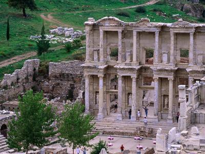 Overhead of Library of Celcus, Ephesus, Turkey-Philip Smith-Photographic Print