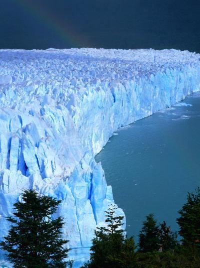 Overhead of Perito Moreno Glacier with Rainbow, Los Glaciares National Park, Argentina-Wes Walker-Photographic Print