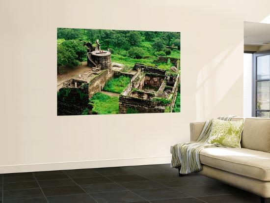 Overhead of Ruins of Daulatabad Fort-Richard l'Anson-Wall Mural