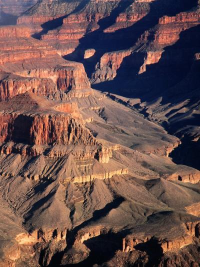 Overhead of South Rim of Canyon, Grand Canyon National Park, U.S.A.-Mark Newman-Photographic Print