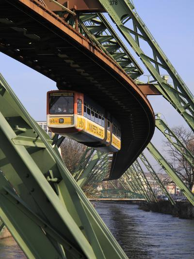 Overhead Railway over Th River Wupper, Wuppertal, North Rhine-Westphalia, Germany, Europe-Hans Peter Merten-Photographic Print