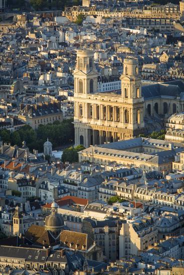 Overhead View of Eglise Saint Sulpice, Paris, France-Brian Jannsen-Photographic Print