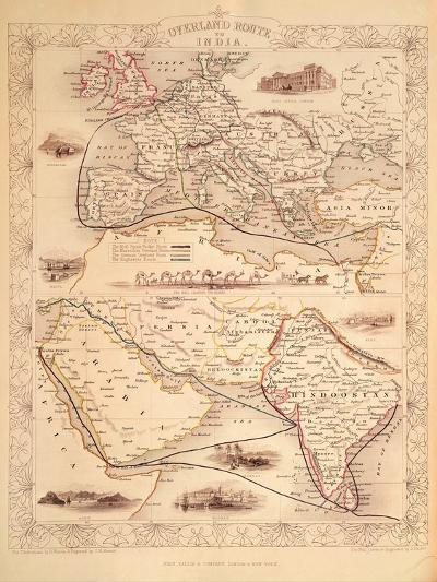 Overland Route to India-John Rapkin-Giclee Print