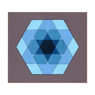 Overlaying Hexagons, 2009-Peter McClure-Giclee Print