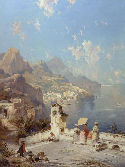 Overlooking Amalfi-Franz Richard Unterberger-Giclee Print