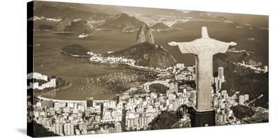 Overlooking Rio de Janeiro, Brazil-Pangea Images-Stretched Canvas Print