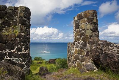 Overlooking Sailboat, Marigot Bay, Marigot, Saint Martin, West Indies-Brian Jannsen-Photographic Print
