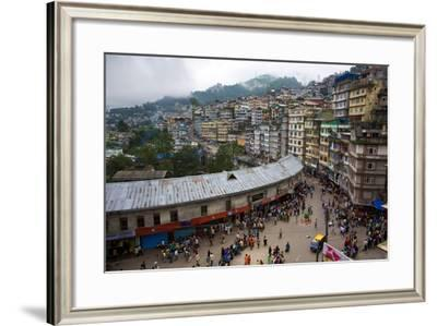 Overlooking Sprawling Busy Downtown Gangtok, India-Steve Winter-Framed Photographic Print