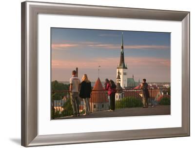 Overlooking Tallinn-Jon Hicks-Framed Photographic Print