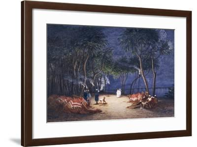 Overnight Camp on Banks of Nile, from Empress Eugenie of France's Journey in Egypt-Charles Theodore Frere-Framed Giclee Print