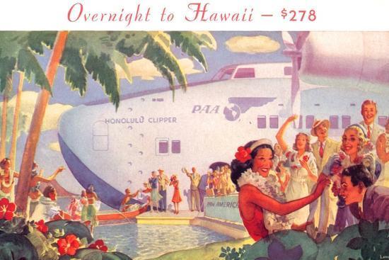 Overnight to Hawaii--Art Print