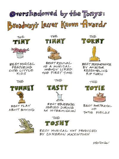 Overshadowed by the Tonys-Broadway's Lesser Known Awards - New Yorker Cartoon-James Stevenson-Premium Giclee Print
