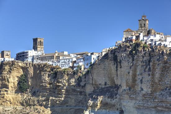 Overview from the south, Arcos de la Frontera, Andalucia, Spain, Europe-Richard Maschmeyer-Photographic Print