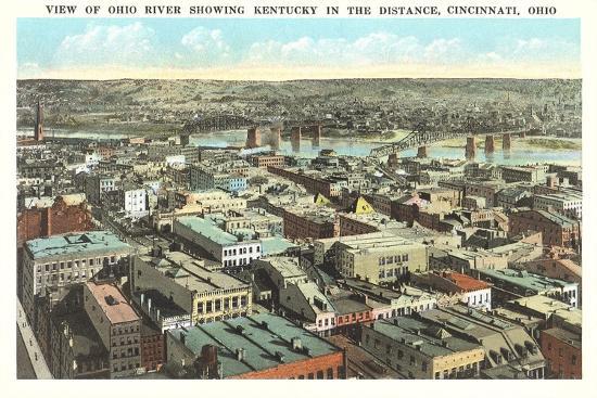 Overview of Cincinnati--Art Print