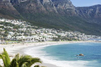 Overview of Clifton Beach with Homes and Mountains in the Bay, Cape Peninsula, Cape Town-Kimberly Walker-Photographic Print