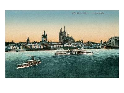 Overview of Cologne on the Rhine, Germany--Art Print
