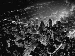 Overview of Manhattan at Night