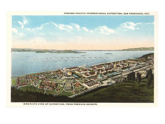 Overview of Presidio Heights, San Francisco, California--Art Print