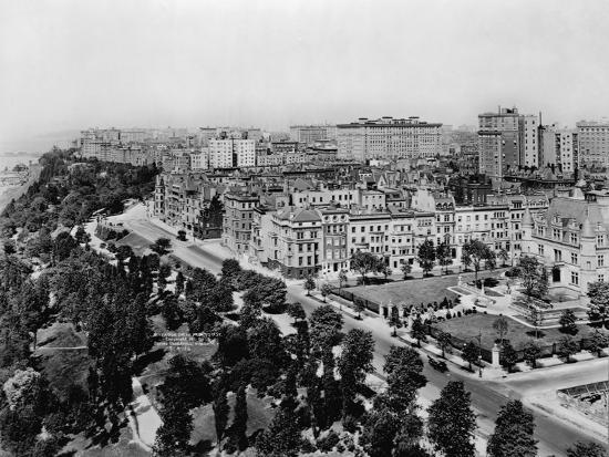 Overview of Riverside Drive and Riverside Park-Irving Underhill-Photographic Print