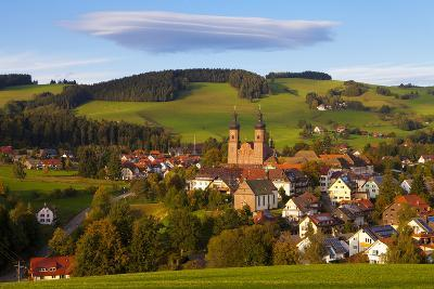 Overview of Saint Peter (Sankt Peter) at Sunset, Black Forest, Baden-Wurttemberg, Germany, Europe-Miles Ertman-Photographic Print