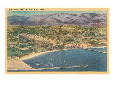 Overview of Santa Barbara, California--Art Print