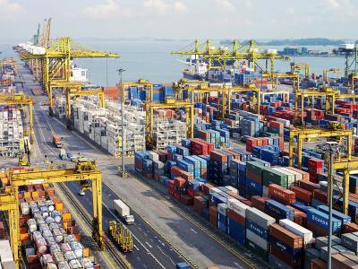 Overview of the Containers at the Port of Singapore Authority-xPacifica-Photographic Print