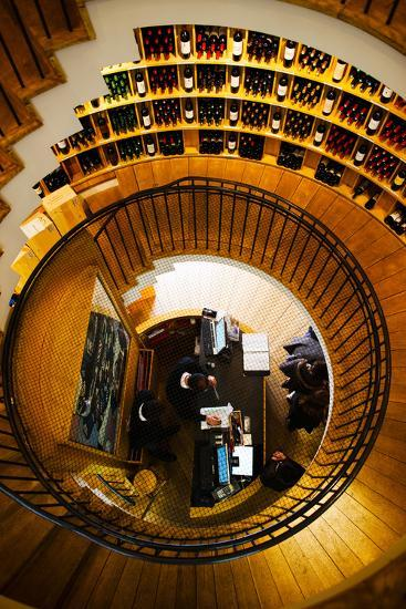 Overview of the L'Intendant Wine Shop Staircase, Bordeaux, Gironde, Aquitaine, France--Photographic Print