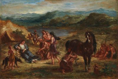 Ovid among the Scythians, 1862-Eugene Delacroix-Giclee Print