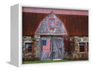 Flag Hanging on Barn Door by Owaki - Kulla