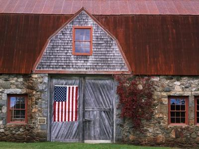 Flag Hanging on Barn Door by Owaki - Kulla