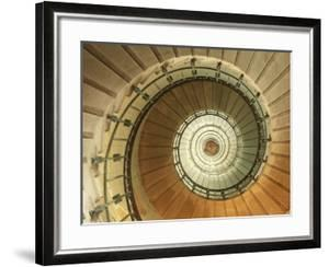 Spiral Staircase at Eckmuhl Lighthouse in Brittany by Owen Franken