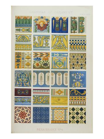 Renaissance No 6, Plate Lxxix from 'The Grammar of Ornament'