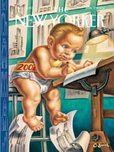 The New Yorker Cover - January 7, 2002 by Owen Smith