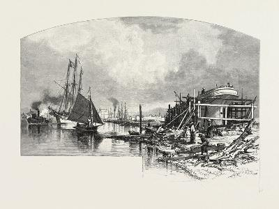 Owen Sound, Looking Up the Harbour, Canada, Nineteenth Century--Giclee Print
