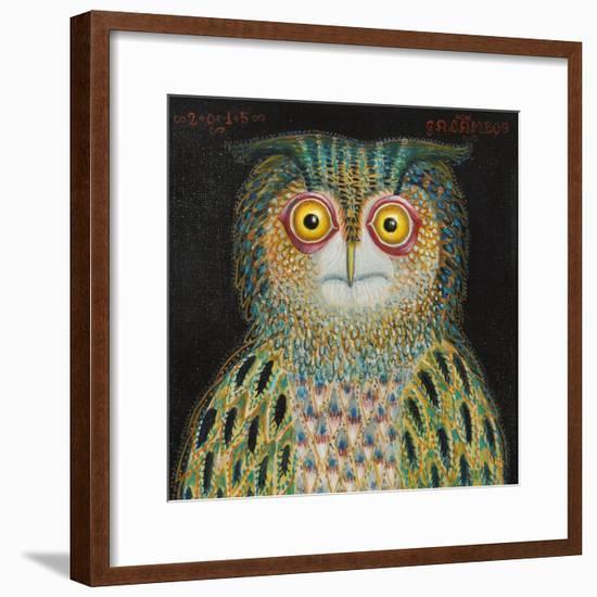 Owl, 2015-Tamas Galambos-Framed Premium Giclee Print