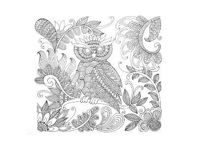 Owl 5-Neeti Goswami-Art Print