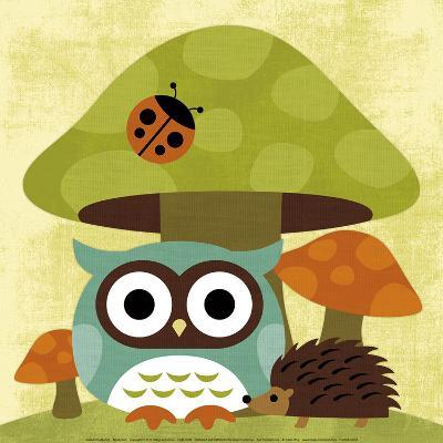 Owl and Hedgehog-Nancy Lee-Art Print