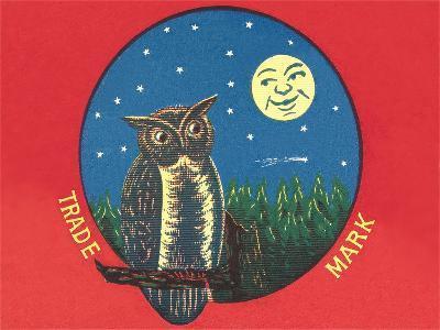 Owl and Moon--Art Print