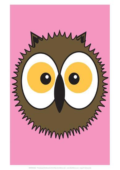 Owl - Animaru Cartoon Animal Print- Animaru-Giclee Print