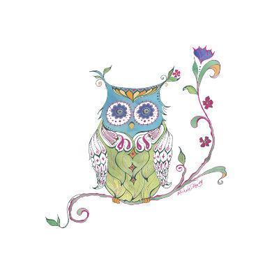 Owl Branch--Giclee Print