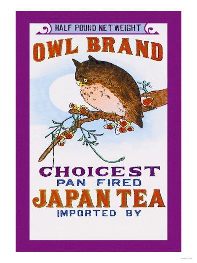 Owl Brand Tea--Art Print