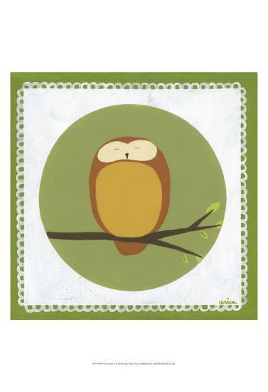 Owl Cameo I-Erica J^ Vess-Art Print