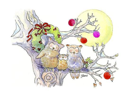 Owl Family-Jennifer Zsolt-Giclee Print