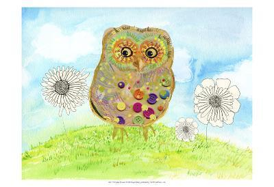 Owl & Flowers-Ingrid Blixt-Art Print