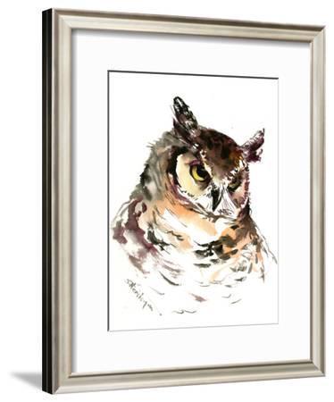 Owl Head-Suren Nersisyan-Framed Art Print