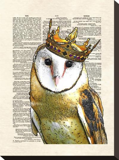 Owl King-Matt Dinniman-Stretched Canvas Print