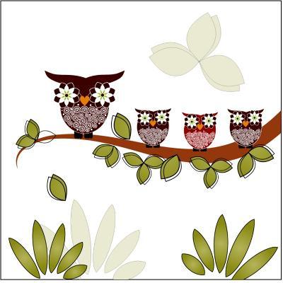 Owl On A Branch-Debra Hughes-Art Print